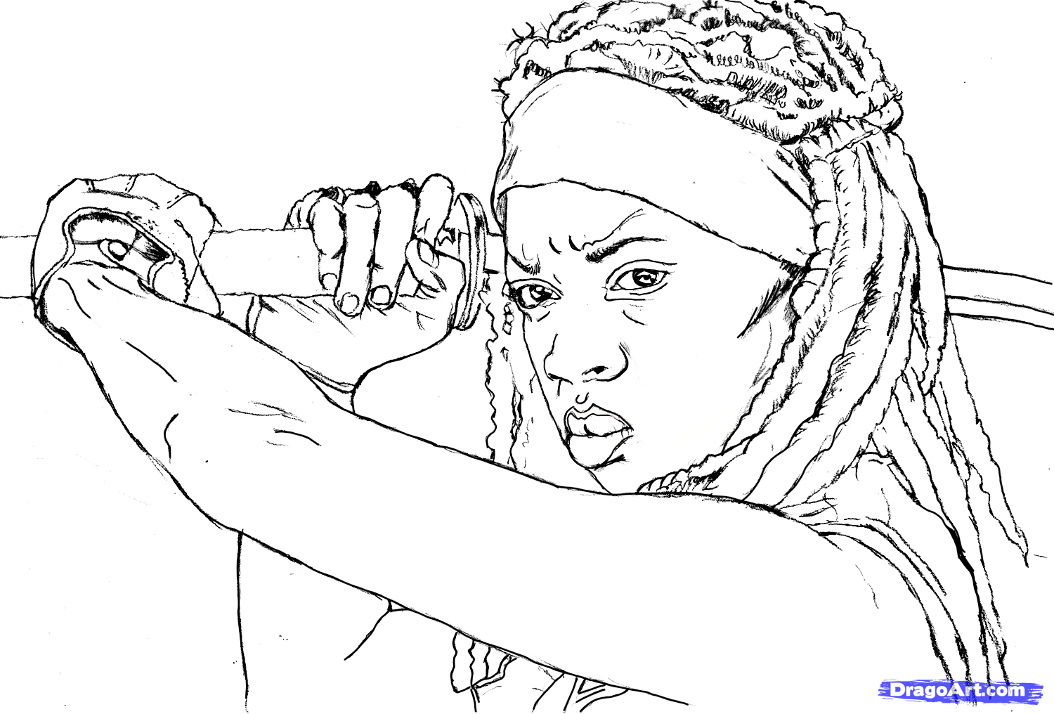 The coloring book of the dead - The Walking Dead