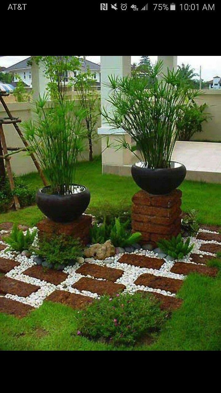 cute backyard set up brick garden on magnificent garden walkways ideas for unique outdoor setting id=77599