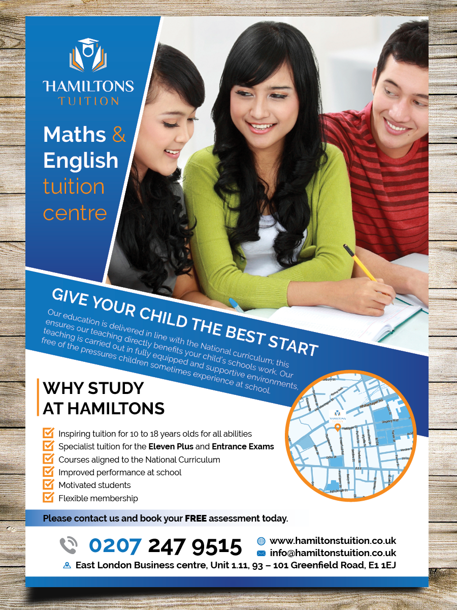 flyer design by masha k for leaflet for tuition centre targeting people from all background design 7105055
