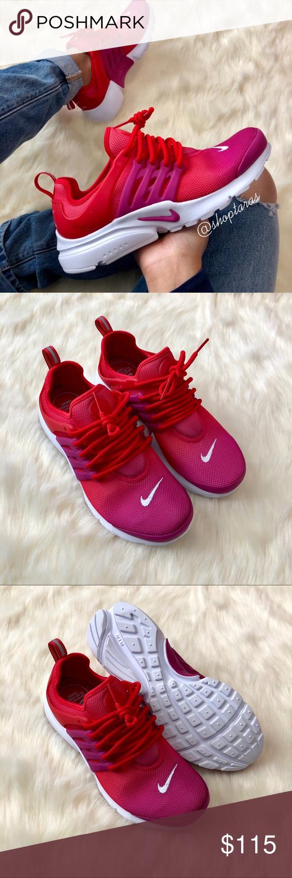 Brand New Nike Air Presto Ombré Red + Fuchsia NWT New