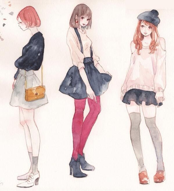Gallery Miya Illustration Web Fashion ファッションイラスト
