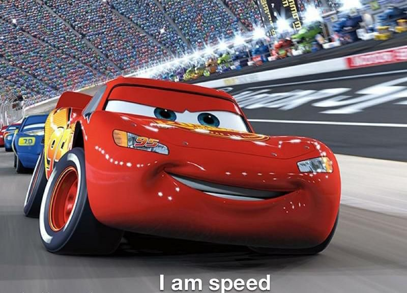 In Cars 2006 Lightning Mcqueen Shows His Dishonesty Early In The Film When He States I Am Speed When Lightning Mcqueen Videos Lightning Mcqueen Pixar Cars