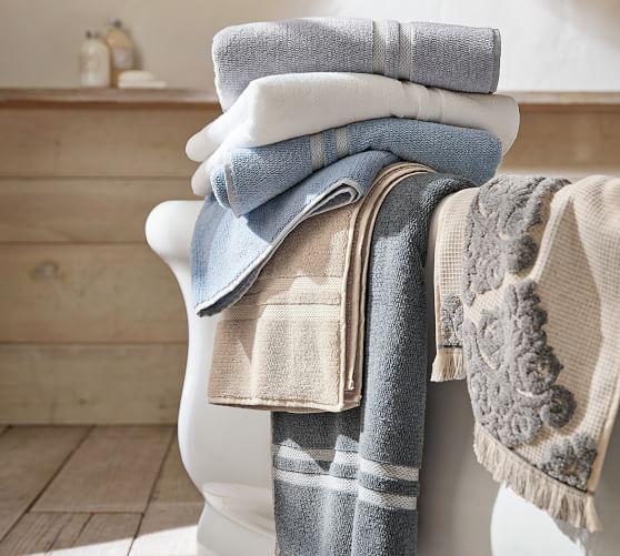 Heathered Hydrocotton Bath Towel Light Gray Potterybarn Towel Cotton Bath Towels Heathered