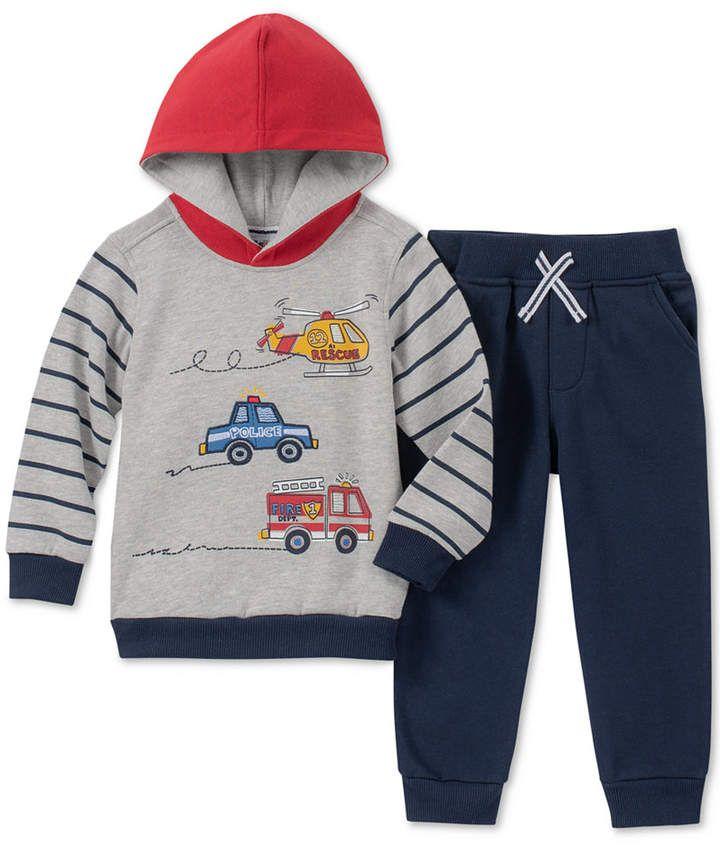 34770cae0 Kids Headquarters Little Boys 2-Pc. Rescue Graphic Fleece Hoodie & Jogger  Pants Set