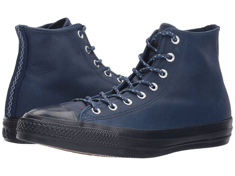 e567d82b9b4c Converse Chuck Taylor(r) All Star(r) Leather w  Thermal Hi Classic Shoes  Midnight Navy Blue Slate Inked