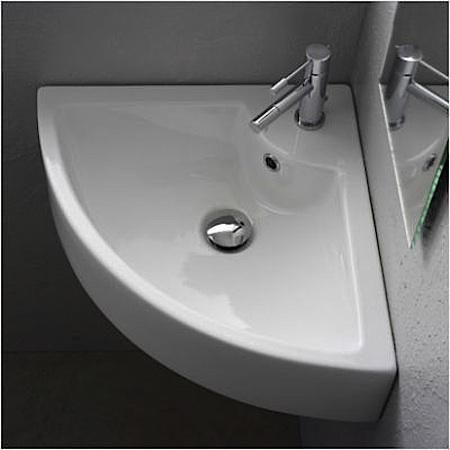 10 Easy Pieces Wall Mounted Guest Bath Sinks Remodelista Corner Sink Bathroom Tiny Powder Rooms Small Bathroom
