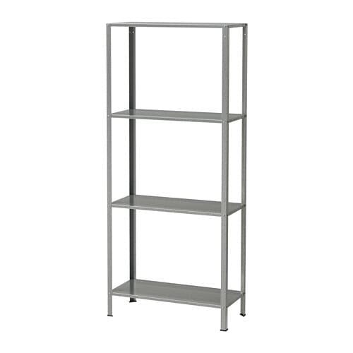 Hyllis Shelf Unit Indoor Outdoor Galvanized 23 5 8x10 5 8x55 1 8