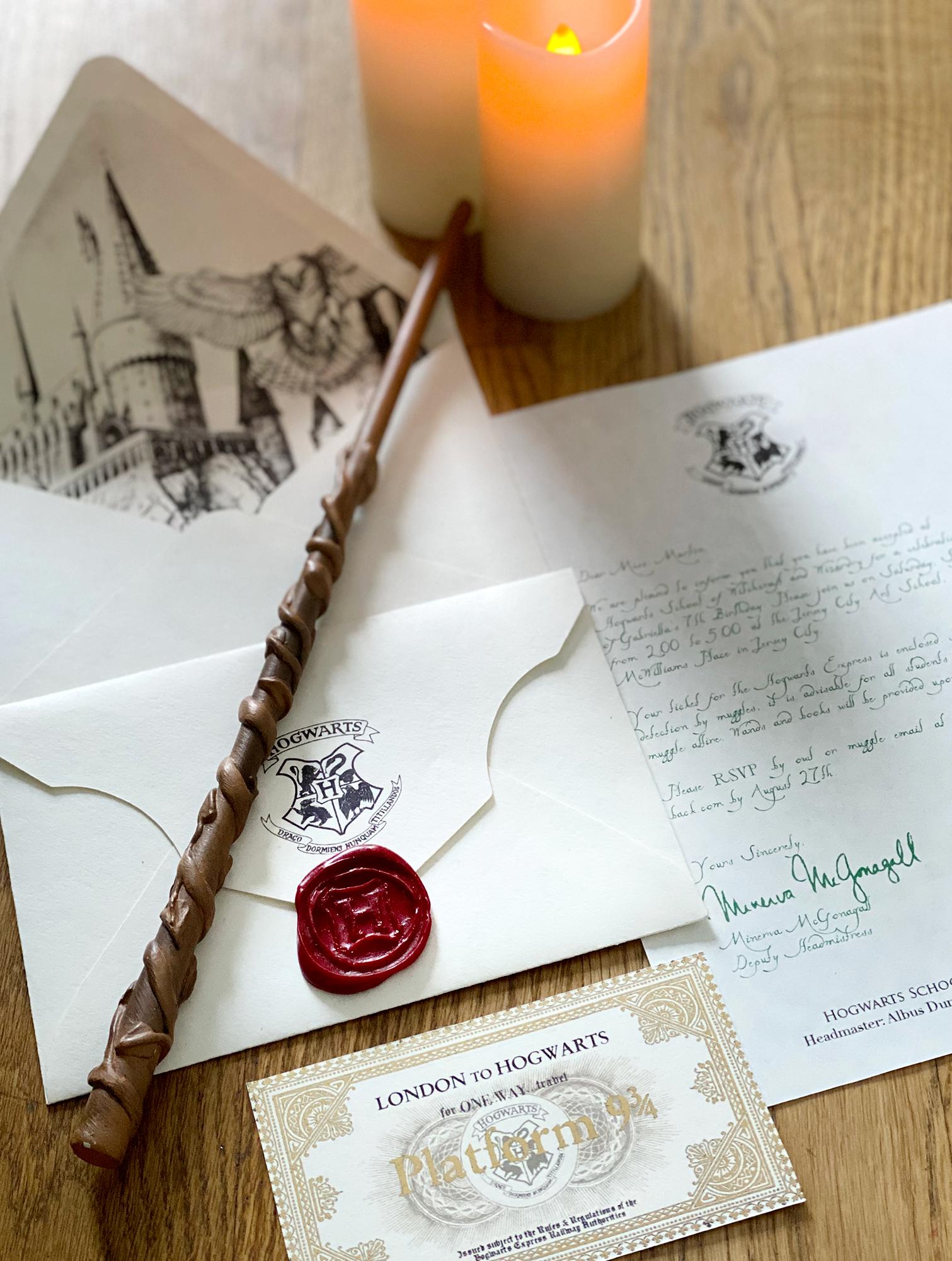 Harry Potter Birthday Party Invitation in 2020 Birthday
