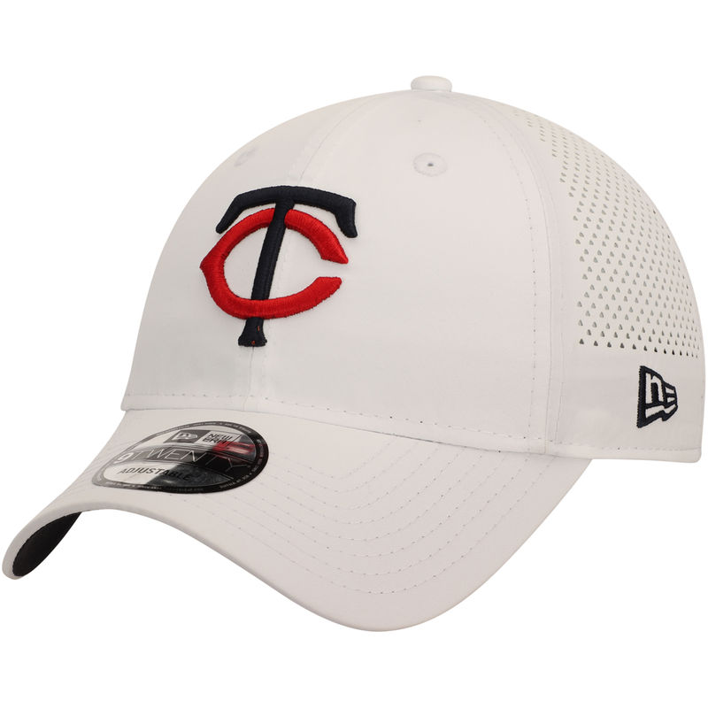 san francisco 5036d 952cf Minnesota Twins New Era Perforated Pivot 9TWENTY Adjustable Hat - White