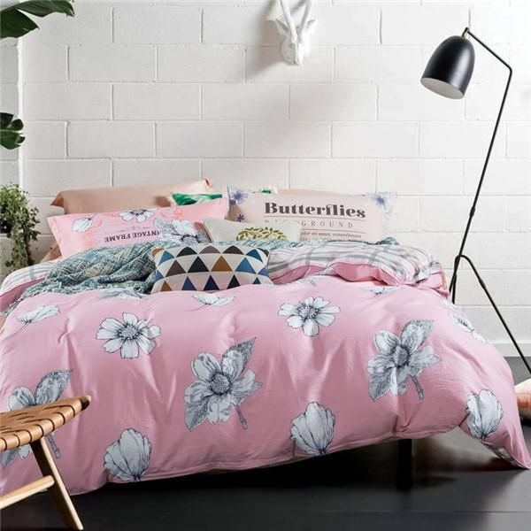 Simple egyptian cotton bedding set king size striped bedspread grey cheap bedding set buy quality flower bedding sets directly from china flower bedding suppliers white flower bedding sets duvet doona quilt fitted cover mightylinksfo