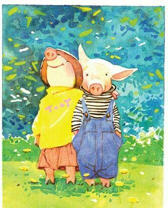 Toot e Puddle, baseado nos livros da autora Holly Hobbie. A animação é linda - com cenários aquarelados onde você quer mergulhar! Amo isso nos desenhos!
