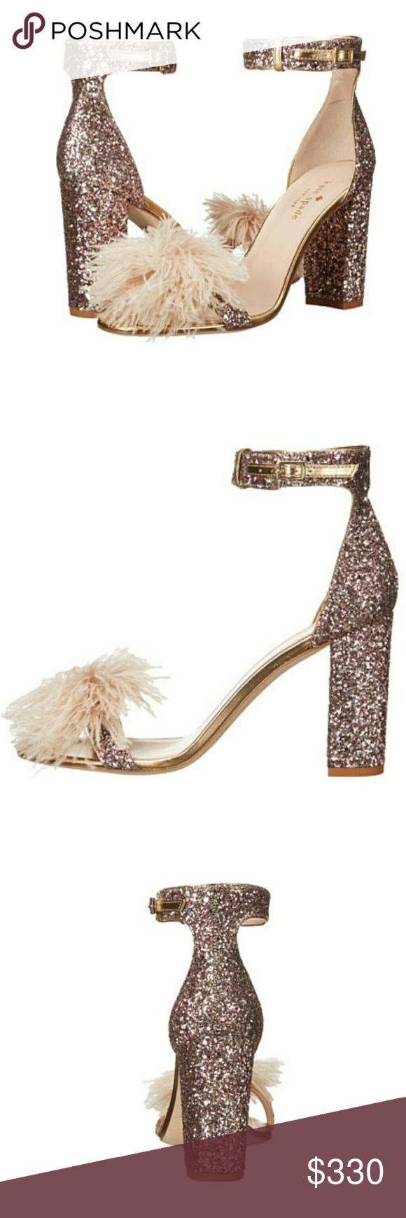 83dfba5ba920 NWT Kate Spade Rose Gold Glitter Heels Brand New Glamorous Kate Spade rose  gold glittered high