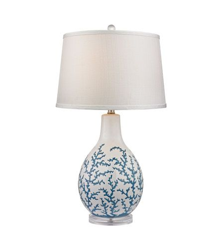 Dimond Lighting D2478 Sixpenny 27 Inch 150 Watt Pale Blue White Table Lamp Portable Light In Incandescent 3 Way Table Lamp Led Table Lamp Ceramic Table Lamps