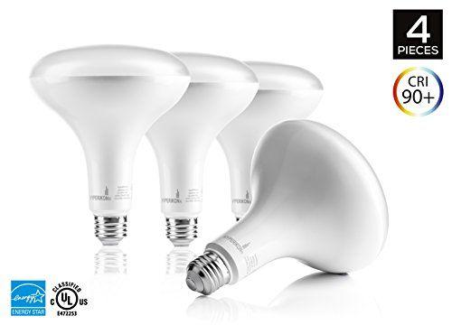 4pack Of Hyperikon Br40 Led Bulb 15w 100w Equivalent 1420lm 4000k Daylight White Wide Flood Light Bulb 120 Beam Angle Medium Base E26 Dimmable Energy Starqualif