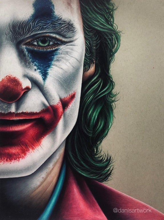 Coloured Pencil Drawing Of The Joker Drawing Joker Drawings Joker Art Drawing Joker Painting