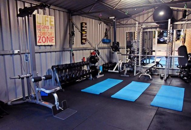 Charming Home Gym Ideas Garage Budget Workout Rooms Idea