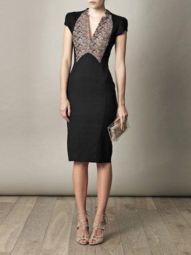 ANTONIO BERARDI  Lace-detail fitted dress