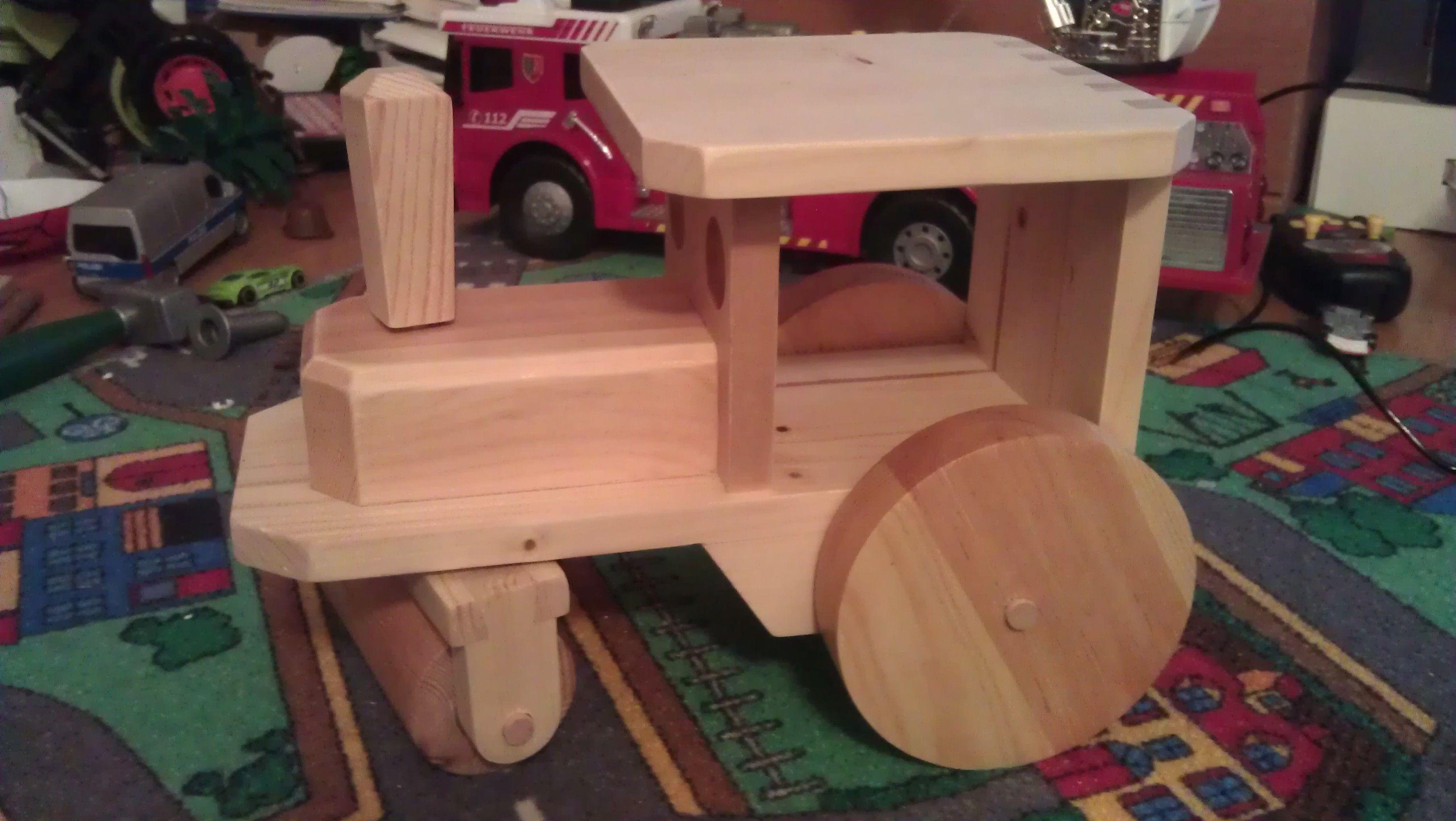 Kinderspielgerate Dampfwalze Selber Bauen Holzspielsachen Topfuntersetzer