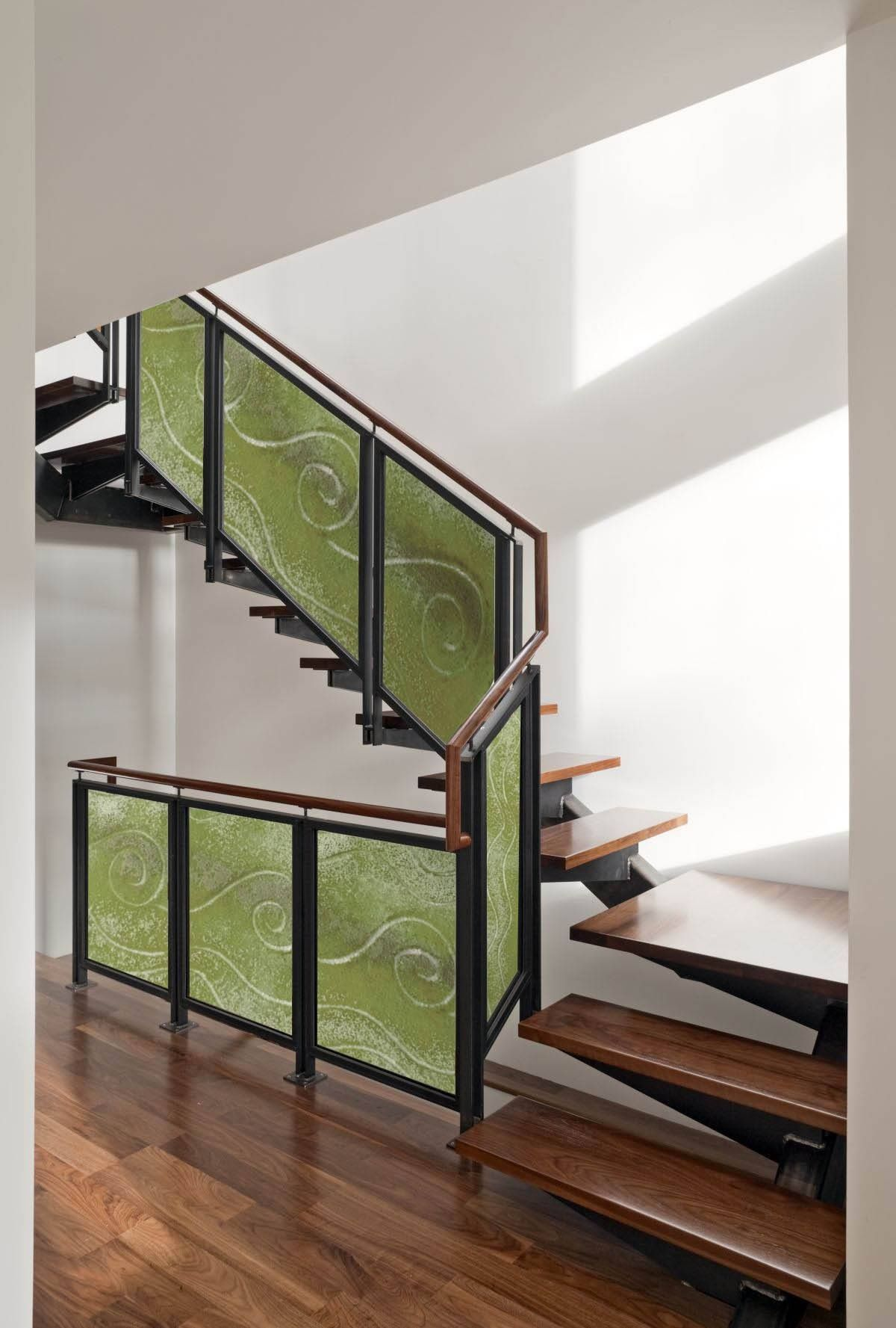 Best Fusing Glass Stair Panel House Staircase Stairs 400 x 300