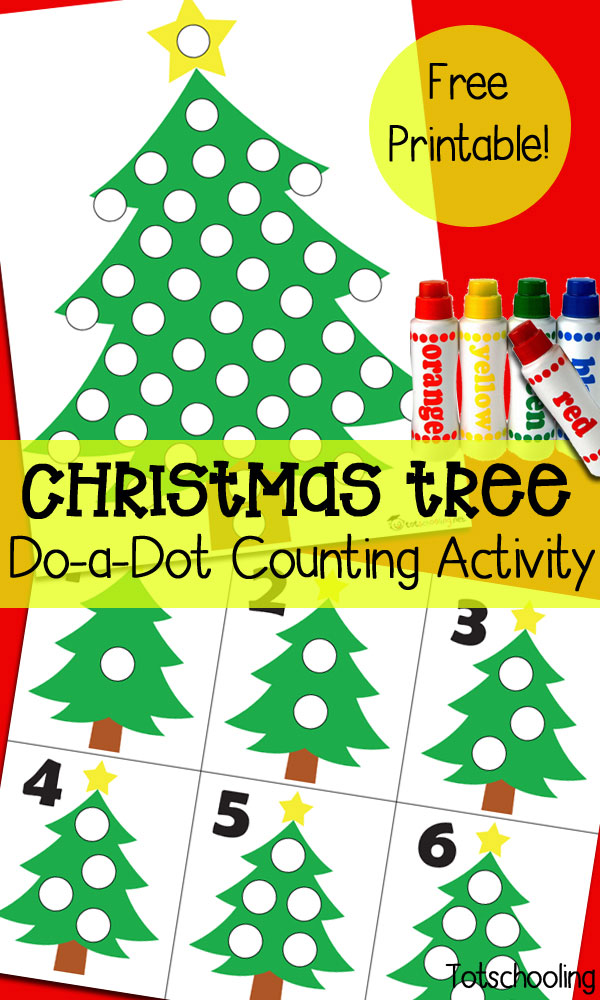 Christmas Tree Do A Dot Counting Activity Preschool Christmas Activities Christmas Learning Christmas Activities For Toddlers