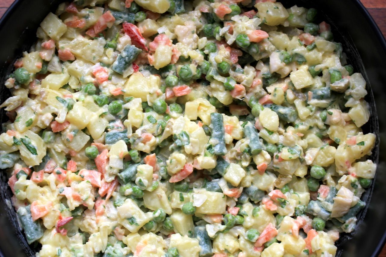 Killer potato salad w giardiniera | Mangia (sub vegan)