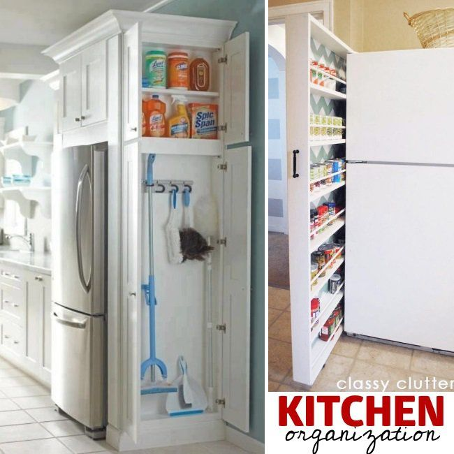 omg we have that extra wall by the fridge add storage here d 27 genius small space on kitchen organization for small spaces id=94431