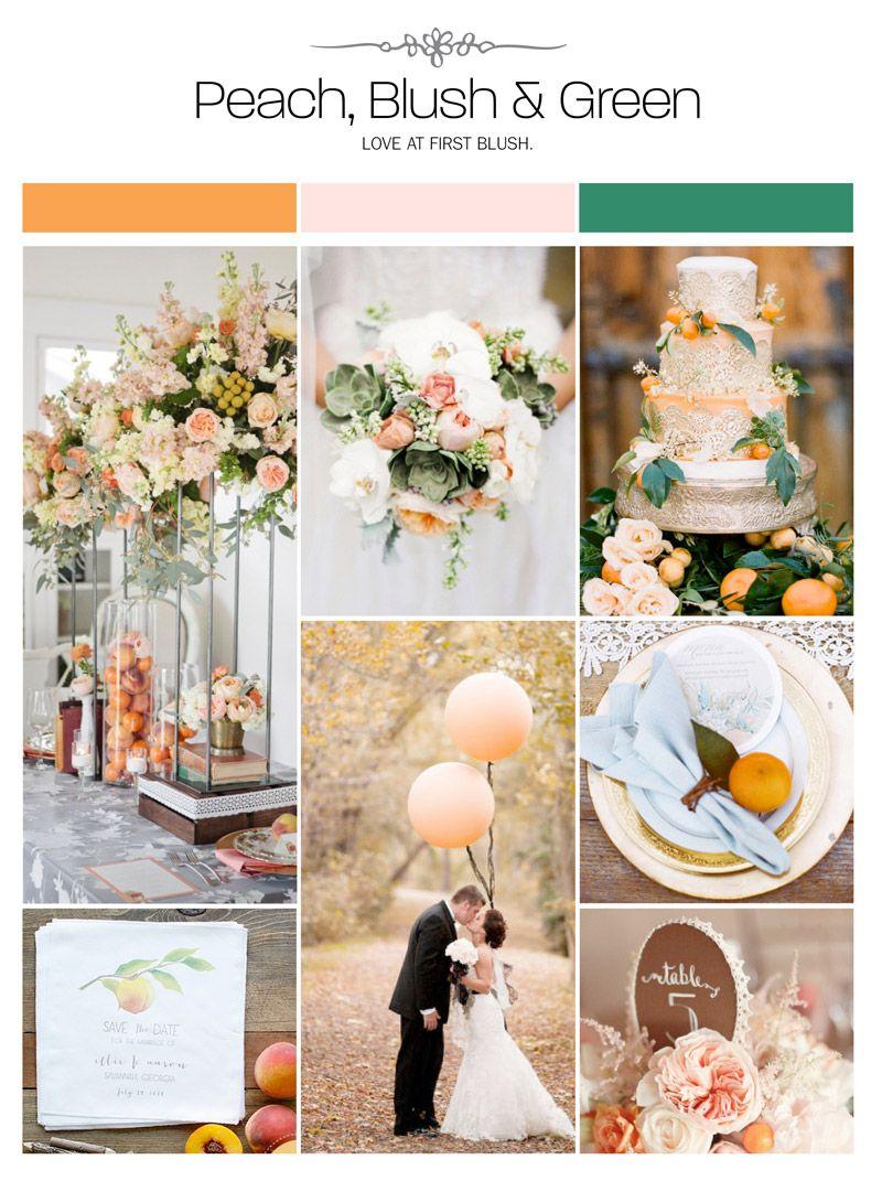 Peach Blush And Green Wedding Inspiration Board Via Weddings Illustrated