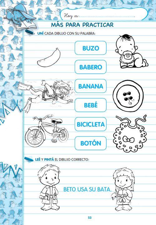 actividades de lectoescritura para primer grado en imprenta ...