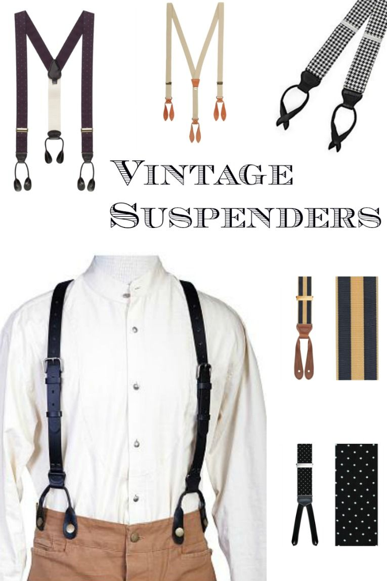 0ebe64371ffa Find men's Victorian 1900s, 1920s, 1930s, 1940s vintage style suspender  braces at VintageDancer.com