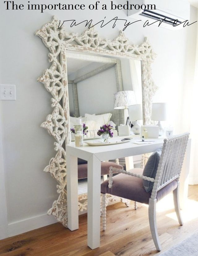 The importance of a bedroom vanity area   (The Decorista