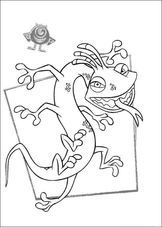 Die Monster AG - Uni Ausmalbilder. Malvorlagen Zeichnung druckbare ...