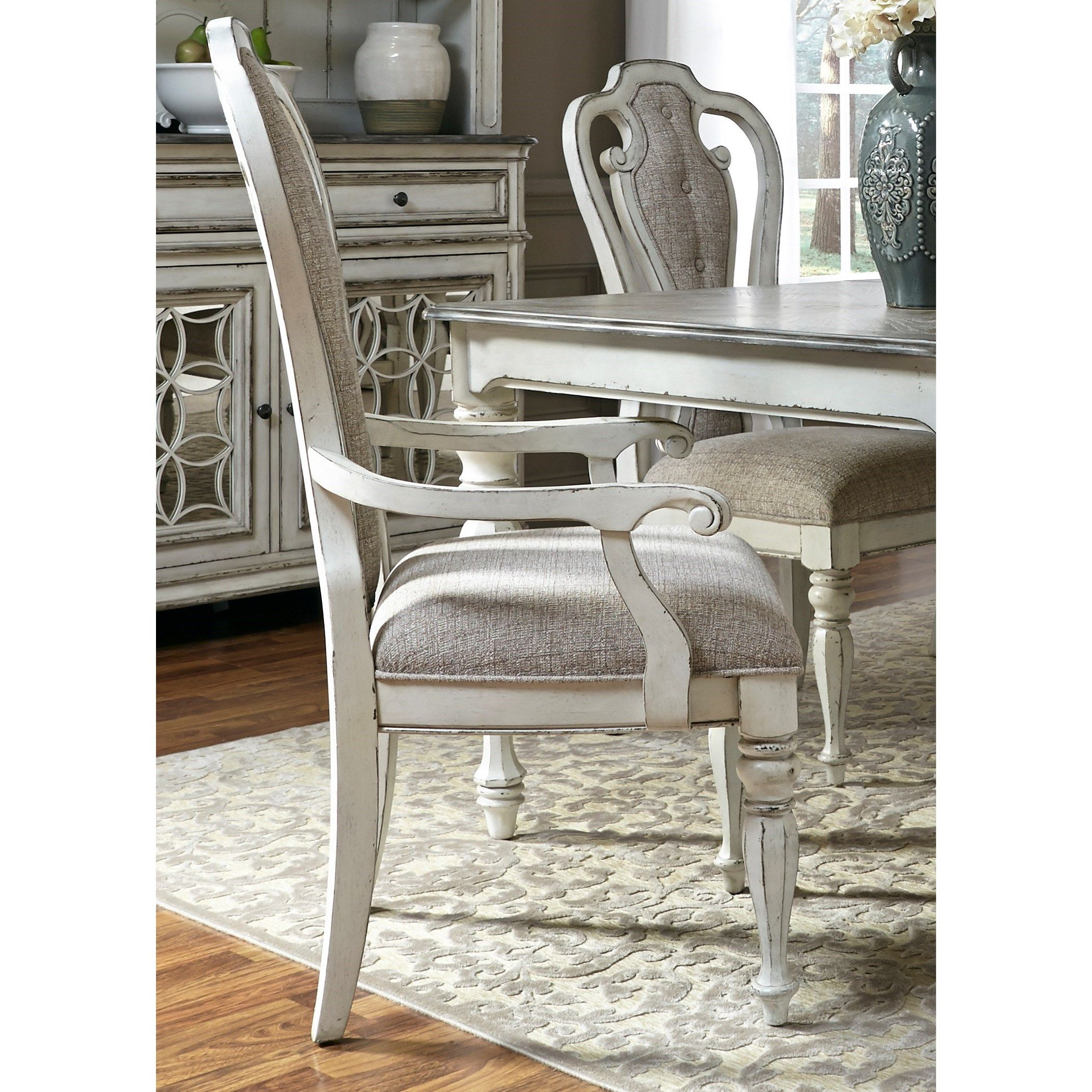 Magnolia Manor Dining Splat Back Arm Chair by Liberty Furniture at