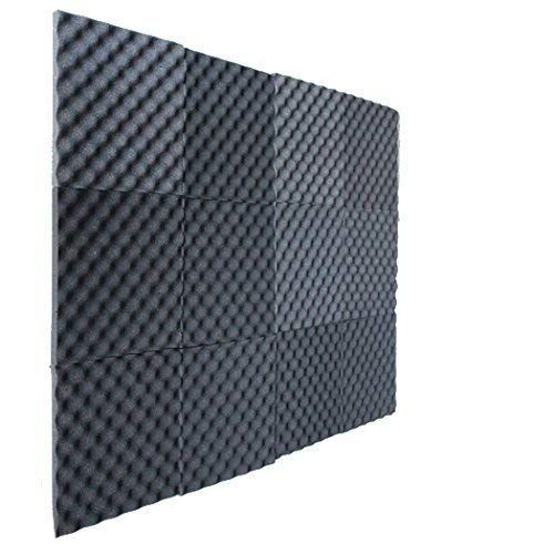 12 Pack Charcoal Slim egg crate foam acoustic foam tiles soundproofing foam panels sound i