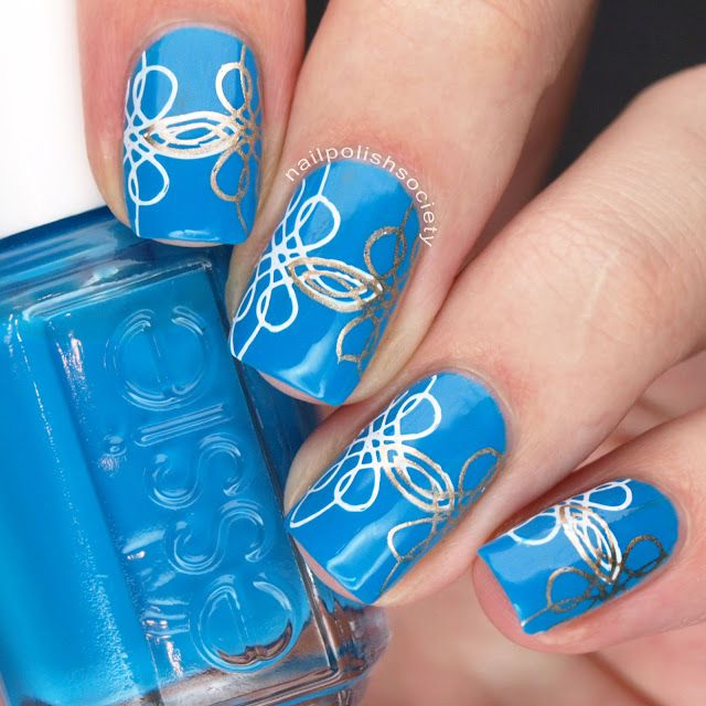 Chinese Button Knot Double Stamping Nail Art Stamping Stamping Nail Polish Nail Polish Nails