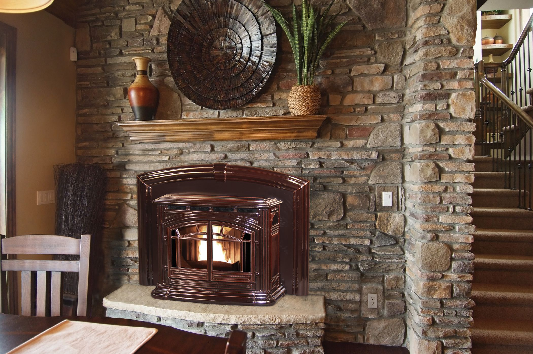 The Enviro M55 Cast Iron Pellet Fireplace Insert Fireplace