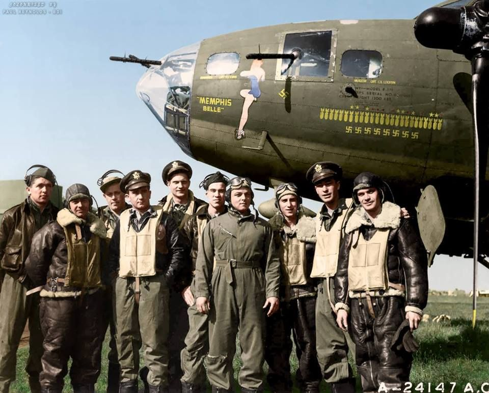 25 mind blowing colourised images of wwii memphis belle