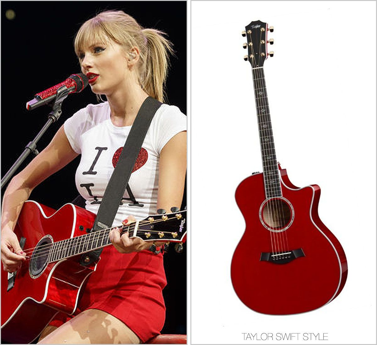 The Red Tour Surprise Song 5 11 Version 3 Taylor Guitars Trans Red 614ce 3998 00 This Is One O Taylor Swift Guitar Taylor Swift Taylor Swift Style