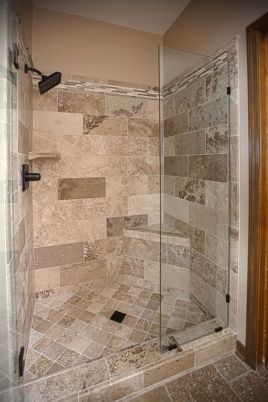 bathroom remodel travertine tile shower excellence in 16374