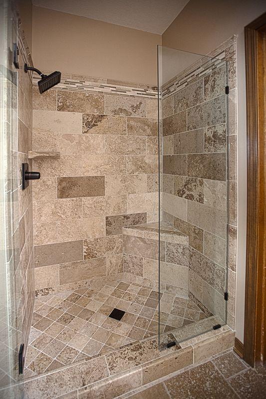 Bathroom Remodel Travertine Tile Shower Excellence In