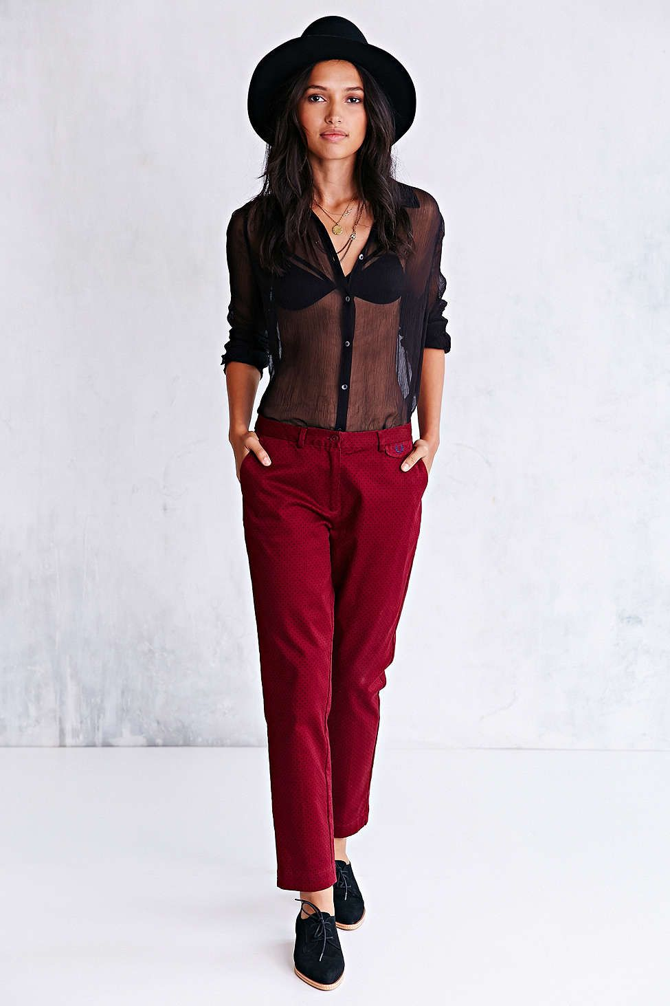 Fred perry pin dot chino pant uo fall pinterest fred