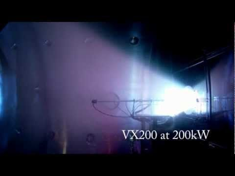 VX-200 plasma at full power of 200 kW - YouTube