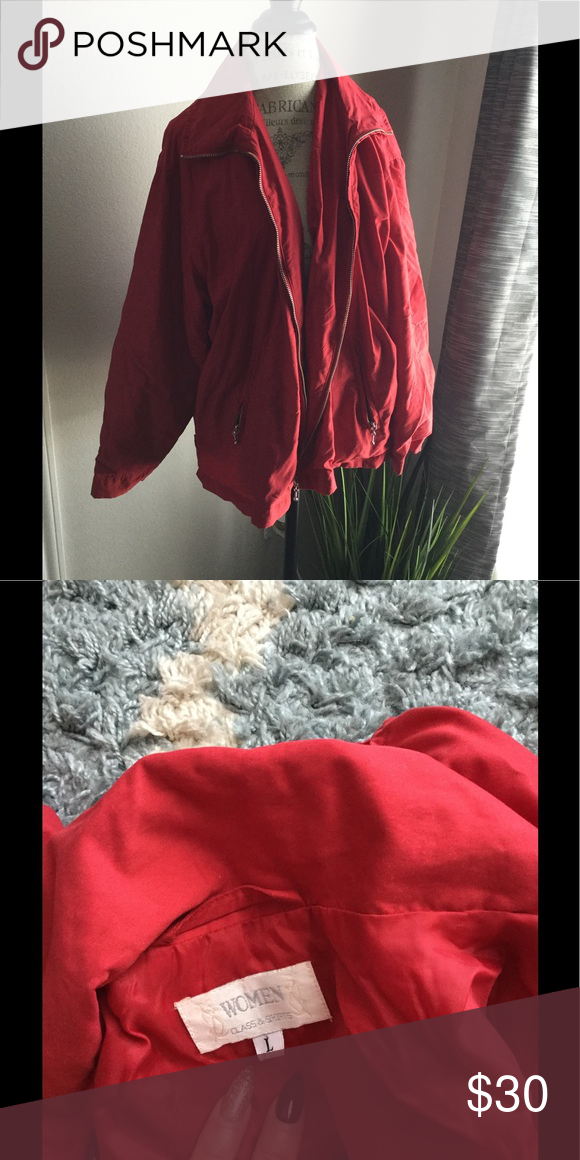 womens red jacket light Large FIRM 💕💕 Red jacket women