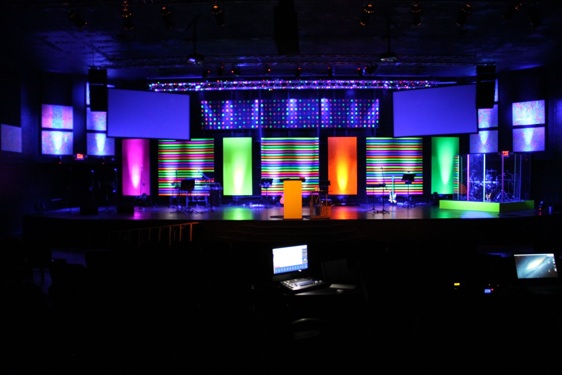 Disco Tech Kids Stage Design Church Stage Design Church Stage