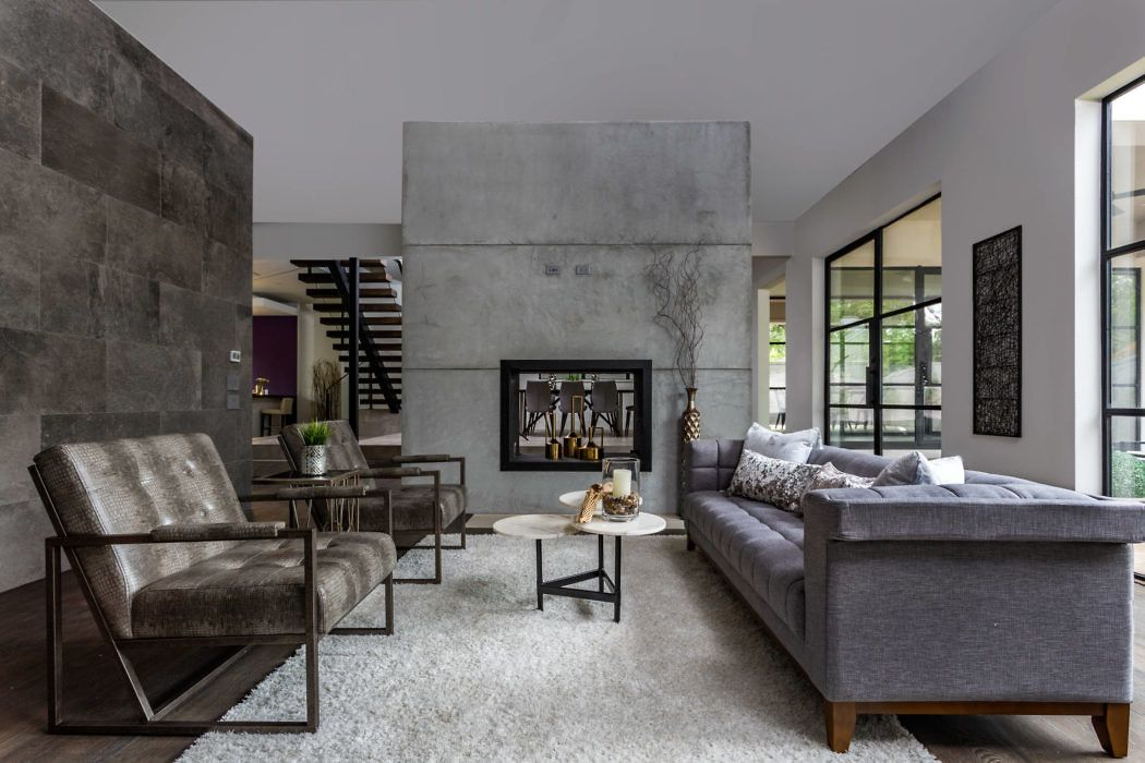 Modern House in Houston by Winfrey Design Build | Salas familiares ...