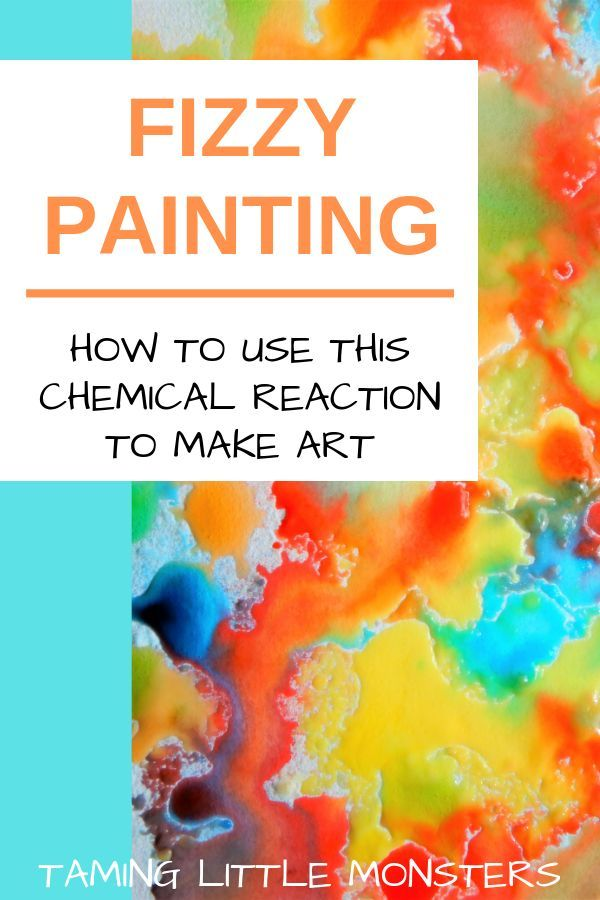 Fizzy Painting - STEM activity for kids - Taming Little Monsters