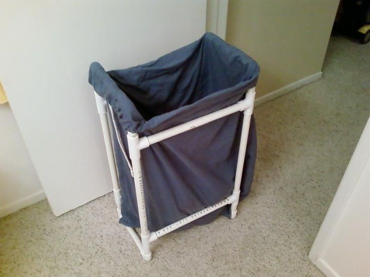 PVC Pipe Frame Laundry Hamper | Laundry Hamper, Hampers and Laundry