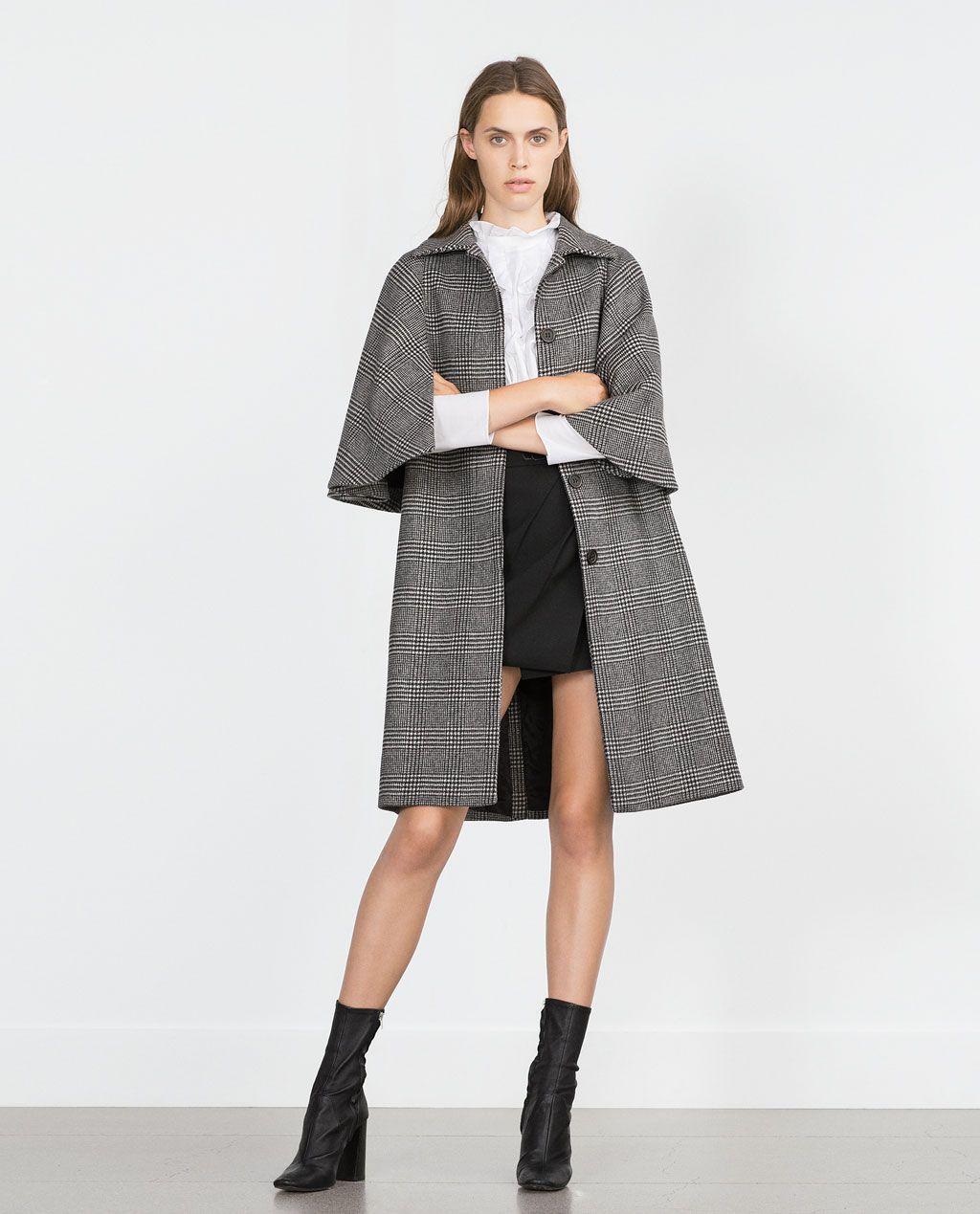 Lo Pinterest Zara Mujer Necesito Quiero Abrigo Cuadros 4ttfFq