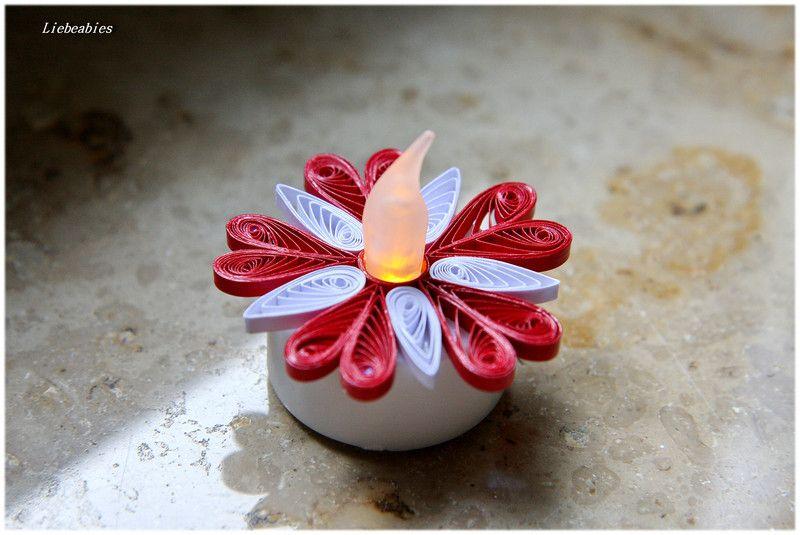 Quilling LED Teelichter Herzchen von Liebeabies auf DaWanda.com
