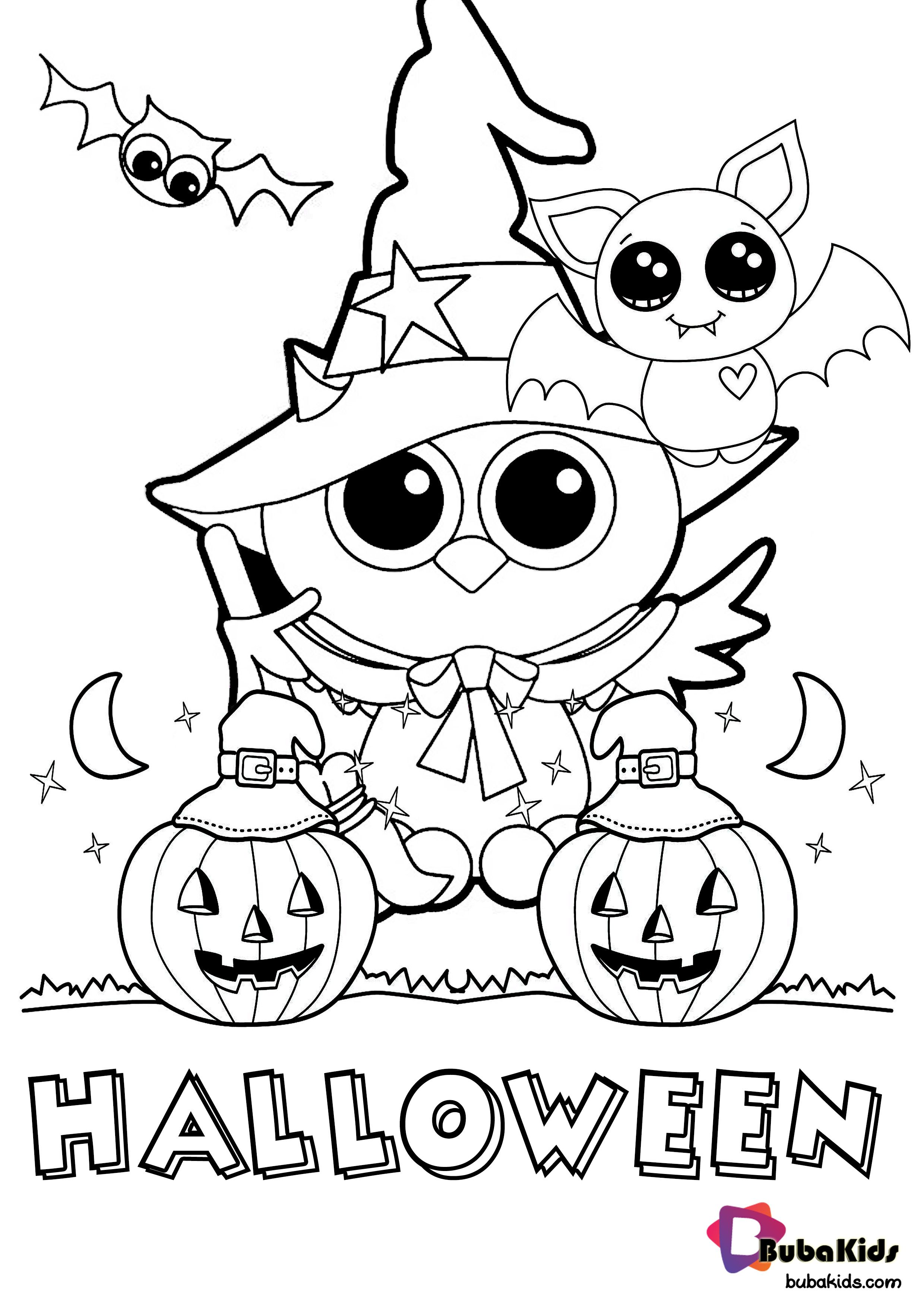 Hello Bubakids Let S Coloring This Halloween Coloring Pages Printabl Halloween Coloring Book Free Halloween Coloring Pages Halloween Coloring Pages Printable [ 3508 x 2480 Pixel ]