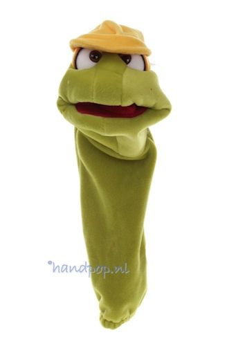 Bouwvakker sokpop 38 cm, sokpop Living Puppets